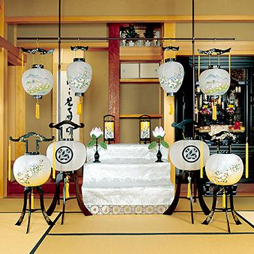 盆提灯の飾り方1