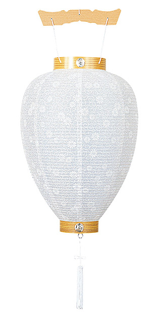 新盆用白提灯