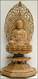 永久仏壇用白檀釈迦如来