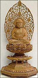 永久仏壇用白檀座阿弥陀如来