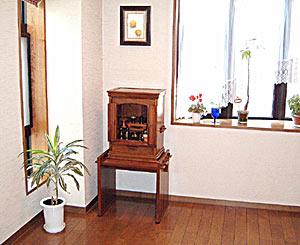 リビングに安置した永久仏壇