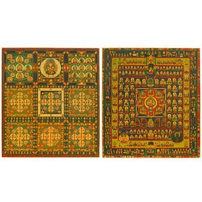 両界曼荼羅 色紙(2枚一組)