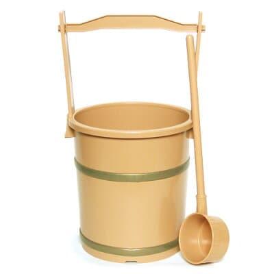 上等手桶(柄杓付)無地 高さ40cm×口径21cm