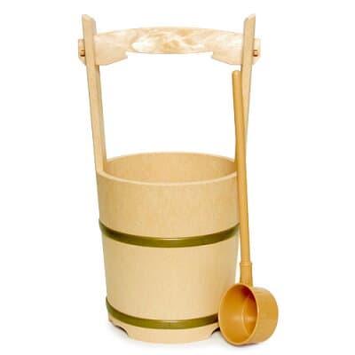 特上手桶(柄杓付)無地 高さ44cm×口径21cm