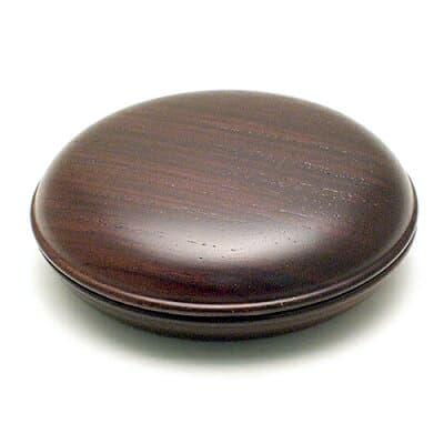 香合 黒檀 2.2寸 直径6.6cm