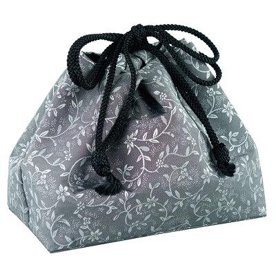 携帯用箱型香炉用金襴袋 グレー