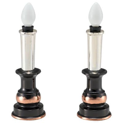 電気ローソク灯(一対) 小 高さ15.5cm