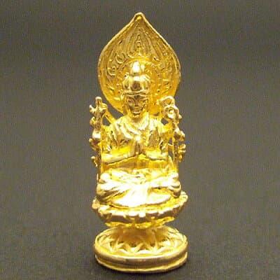 純金製ミニ仏像 千手観世音菩薩 高さ2.3cm