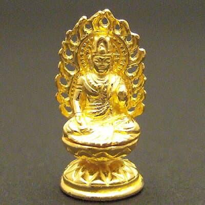 純金製ミニ仏像 虚空蔵菩薩 高さ2cm