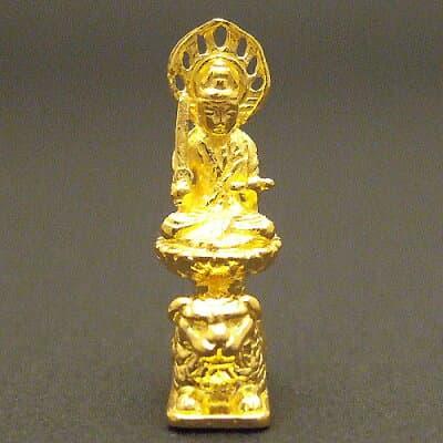 純金製ミニ仏像 文殊菩薩 高さ2.2cm