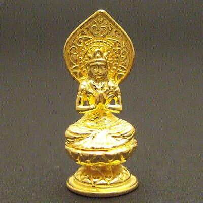 純金製ミニ仏像 勢至菩薩 高さ2.2cm
