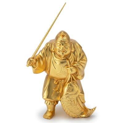 開運招福七福神・恵比寿 頭上迄の高さ8.3cm