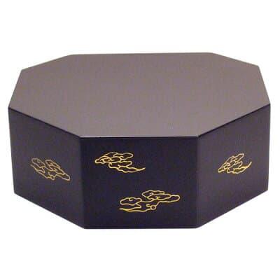 八角仏像台 木製黒塗り 小 高さ5cm