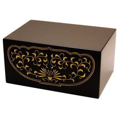 四角仏像台 木製黒塗り 小 高さ5.4cm
