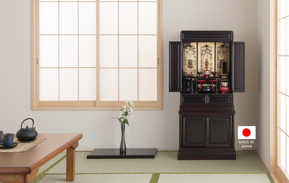 唐木仏壇 ひなぎく 桜色 38×16号