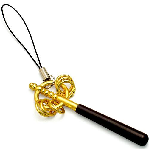 御守り錫杖 (携帯ストラップ)