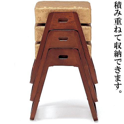 寺院用スツール(木製)