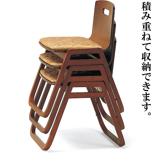 背付寺院用スツール(木製)