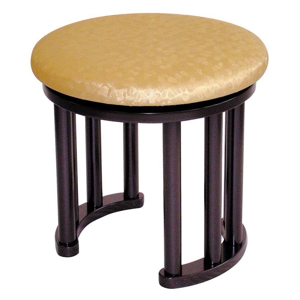 背高丸型回転式講話椅子 R-607(木製)