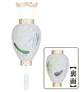 新盆用白提灯<br>絵柄入り(牛・馬) 3306