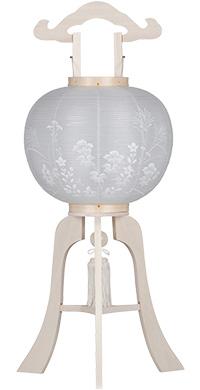 神道用白木盆提灯