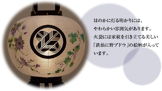 対柄家紋入盆提灯 回転行灯 9号 1117-D(一対)