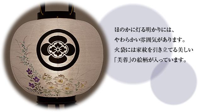 対柄家紋入盆提灯 回転行灯 11号 1477-D(一対)