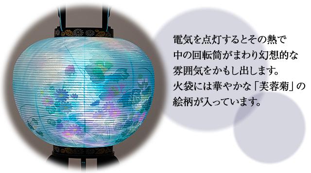 盆提灯 回転行灯10号 2602-2 一対セット(2個)