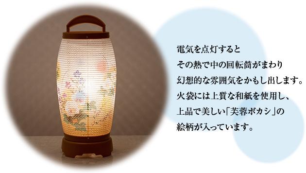 ミニお盆提灯 回転行灯 せいらん3号 2723 一対セット(2個)