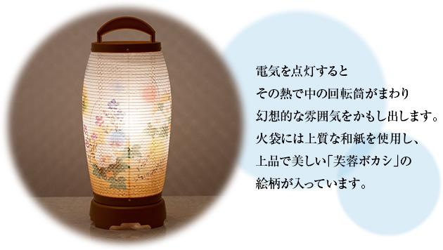 ミニお盆提灯 回転行灯 せいらん3号 2723(一個)