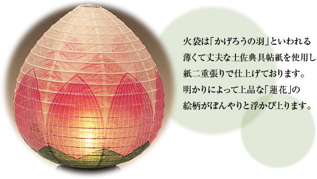 ミニお盆提灯 結花(ゆいか)2号 コードレス 3922(一個)