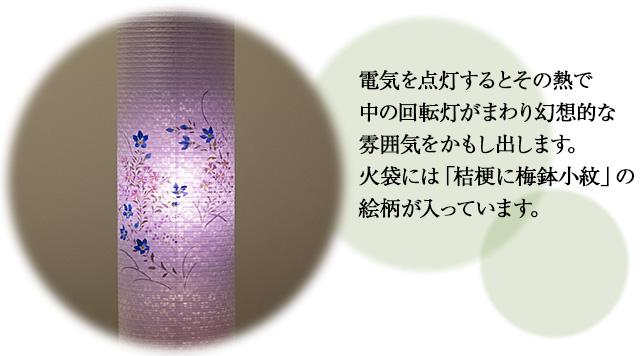 特選盆提灯 回転行灯 立花桜調6号 3969