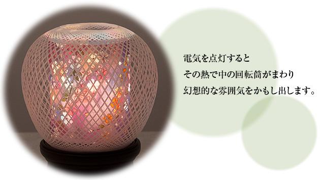 ミニ盆提灯 回転 花まゆ2号 6530(一個)