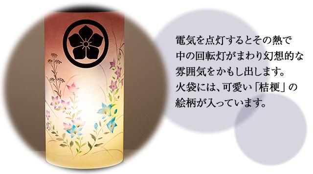 家紋入盆提灯 回転行灯 ひかり2号 9936-1(一個)