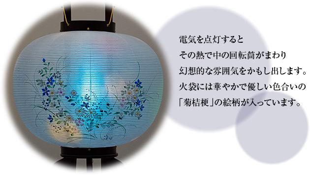 対柄盆提灯 回転行灯 12号 1478-C(一対)