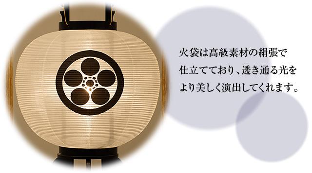 家紋入盆提灯 大内行灯11号 2481-1 一対セット(2個)