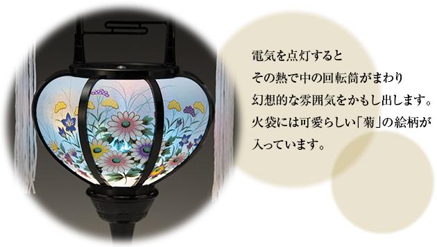ミニ回転霊前灯 特小 6510(一対)