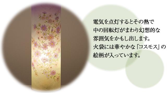 回転行灯 夢想花2号 6529-2 一対セット(2個)