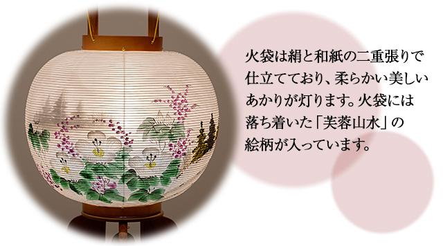 盆提灯 大内行灯 ケヤキ調11号 8821-2 一対セット(2個)