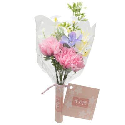 【仏壇用のミニ仏花・造花】千の花 小 (ピンク) S-11
