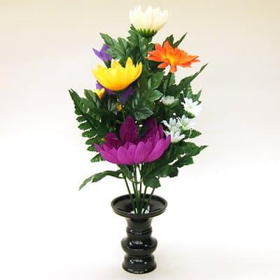【仏壇用の仏花・造花】仏花 小 花立3寸付