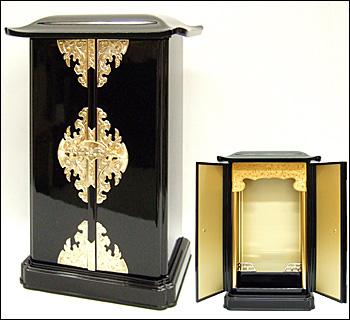 厨子型ミニ仏壇(大型)黒色