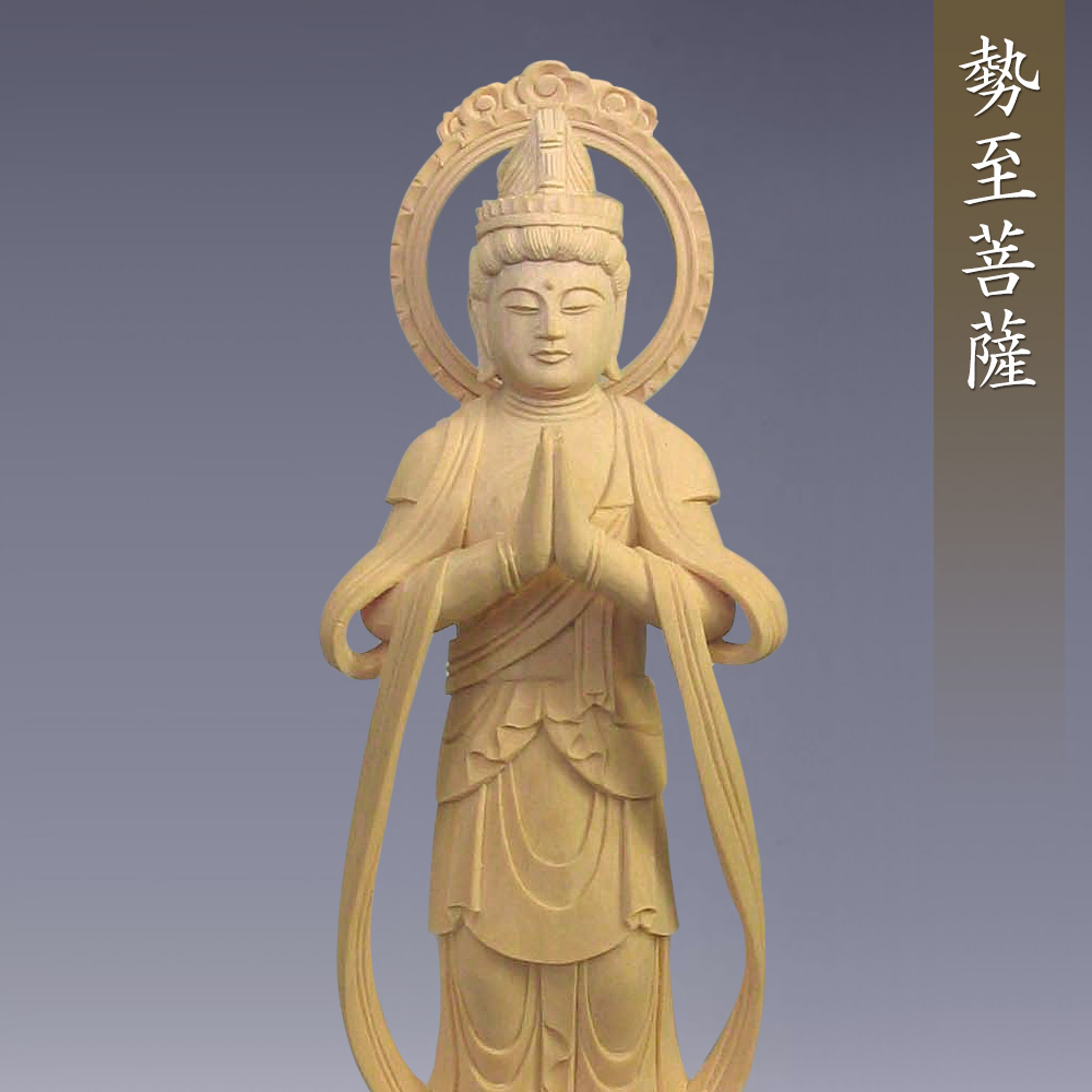 観音菩薩・勢至菩薩(一対)(阿弥陀如来・天台宗・浄土宗の脇侍)