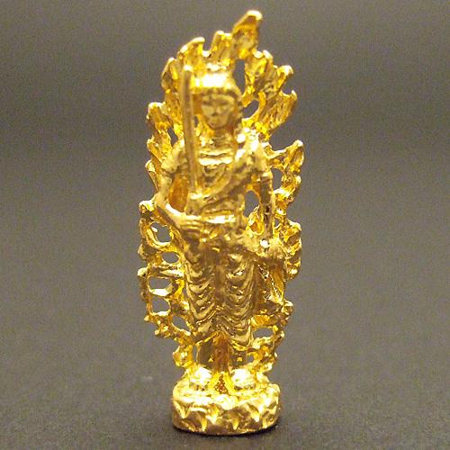 純金製ミニ仏像 不動明王