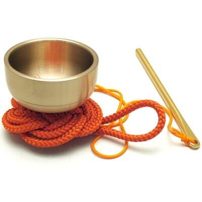 袖印金 朱紐(携帯用おリン)1.5寸 口径4.5cm