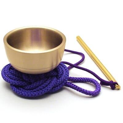 袖印金 紫紐(携帯用おリン)1.5寸 口径4.5cm
