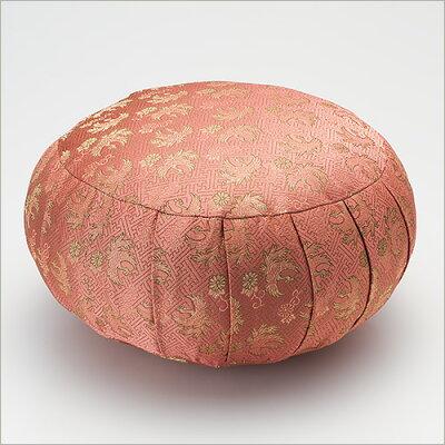 女性用 座禅布団(座布) 金襴 ピンク