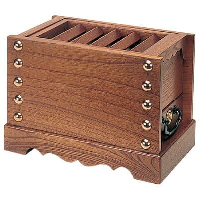 箱型賽銭箱(欅製) 8寸 巾24cm
