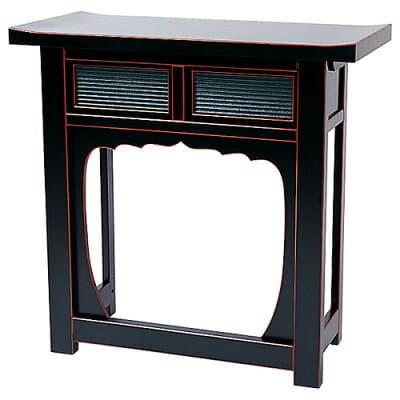 折畳式焼香机(天反)黒塗 2.5尺 巾75cm