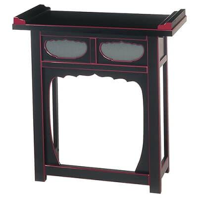 折畳式焼香机(筆返付)黒塗 2.5尺 巾75cm